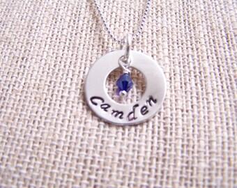 Sterling silver mothers pendants, Hand stamped pendant, keepsake, name pendant,affirmation pendant