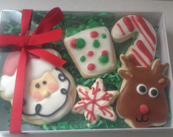 Christmas Cookie Boxed Set, Christmas cookies, Christmas gift, Christmas gifts for her, Christmas gift ideas, holiday cookies, holiday gifts