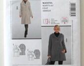 2000s Maternity Coat Pattern Burda Style 7318, Womens Lined Winter Jacket Car Coat Sewing Pattern, Hood or Collar, Misses Sizes 10-20 UNCUT