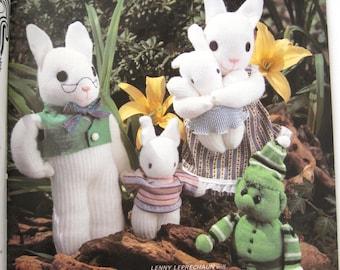 Sock Dolls and Toys Pattern Book, 16 Projects, Betty Kuizenga, Full Size Pattern Insert, Stuffed Doll & Animal Toy Sewing Patterns, 1980