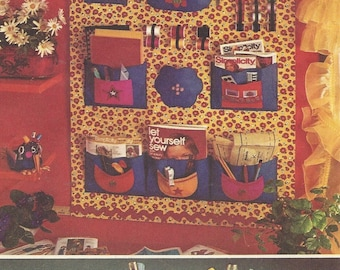 70s Sewphie the Sewing Bird, and Sewing Room Organizer Simplicity Sewing Pattern 5233 Transfer for Sewphie Included