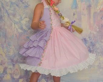 Rapunzel light and cool girls princess costume