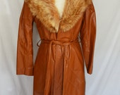 1970s Fox and Leather Trench