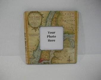 New York Antique Map Frame / Vintage 1778 Manhattan New York Map Frame / Picture Frame / Vintage Map / Historical Map New York CIty Frame