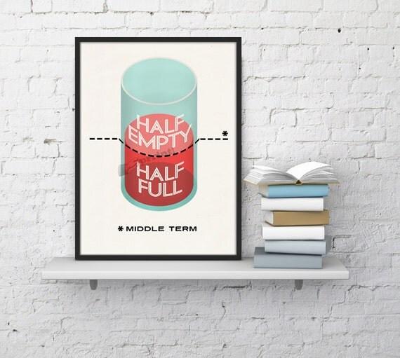 Christmas Sale Optimism vs Pessimism Art print  quote, Wall art print, Philosophy decoration, Philosophic art, Optimistic art TVH181WA4