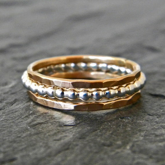 Sterling Silver Thumb Ring Gold Thumb Ring Set Gold