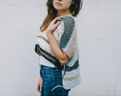 OOAK Knit   The Waterfront Crop Top   Knit Sweater   Knitted Vest   Oversized Sweater   Knit Croptop   Bohemian Sweater