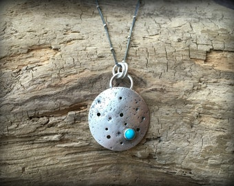 Luna - Sterling Silver and Turquoise Necklace