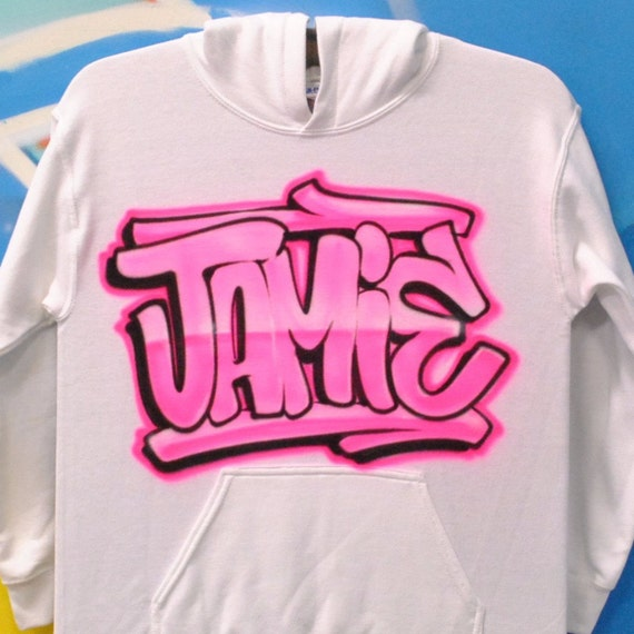 Custom airbrush graffiti style hoodie for Custom made airbrushed shirts