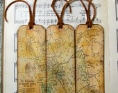 Greece Historical Map Bookmarks Set of 3 Greece Gifts for Men 700 to 600 B. C. Old Map Bookmark Gifts for Map Collectors