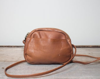 Mini Crossbody Purse in Brown Columbian Leather