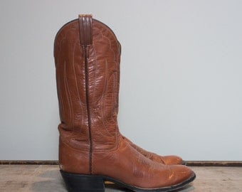 10 AA | Women's Tony Lama Brown Cowboy Western Boots