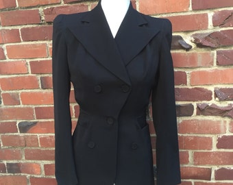 VTG Fricks California Kraeler fitted Blazer black Sz 0 2