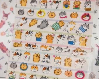Funny Cat Sticker (1 Sheet)