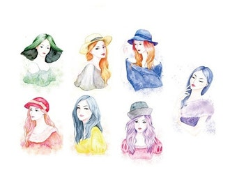 Watercolor Girl Washi Tape (35mm X 7M)