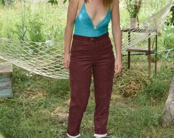 Vintage 90's Burgundy High Waist Pants