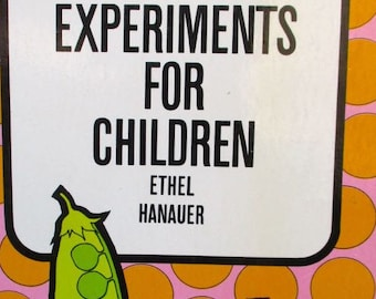 Biology Experiments for Children book by Ethel Hanauer Vintage science 1962 microscope study activities projects nature paperback guide idea
