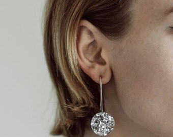 Round  Glitter Drops - Silver Lush - Small - Each To Own - Laser Cut Drop Earrings