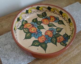 Vintage Ceramic Pottery Fruit Bowl - Oranges Bowl, Decorative Dish