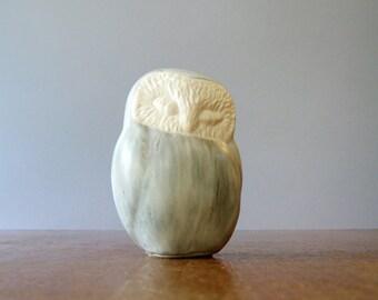 "Vintage Andersen Studios Pottery ""Sleepy"" Owl Figurine / Sculpture"