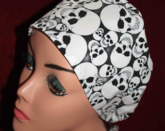 Glow In the Dark Skulls Surgical Cap (biker/chemo/surgical)