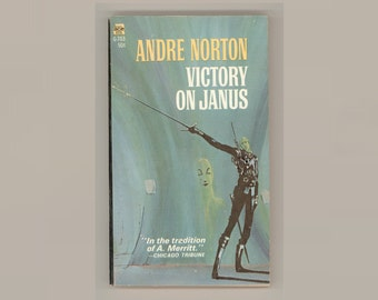 Andre Norton, Victory on Janus Vintage Paperback Book Science Fiction S-F Sword and Spacery Cover Art by Michael Gilbert ACE G-703