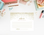 Instant Download - Confetti Shower Advice for the Couple Cards