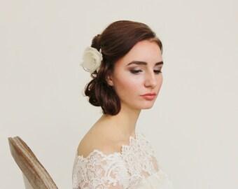 Ivory Flower Clip Bridal Wedding Accessories