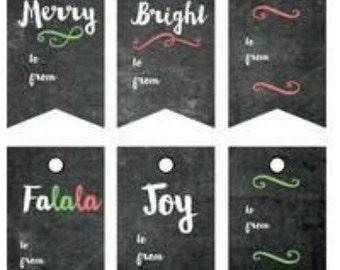 christmas gift tags christmas gift wrap tags gift present tags chalkboard gift tags christmas tags favor