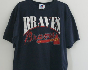 Vintage 90s Atlanta Braves T Shirt XL