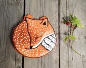 Sale Small Fox Leather Purse