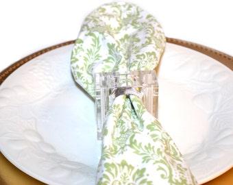 Lucite Napkin Rings Acrylic Napking Rings Napkin Holders Lucite Rings Salt and Pepper Shaker Wedding Decor