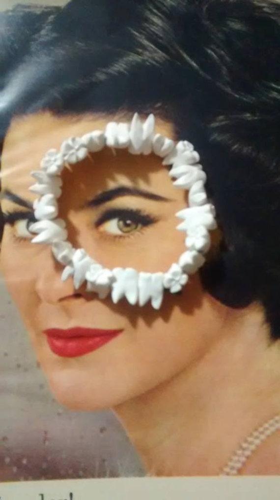 Human Teeth Bracelet - macabre , Quay Brothers, death glam, goth