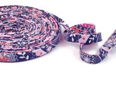 Silent Cinema Pink and Gray Bias Tape Double Fold- Half Inch