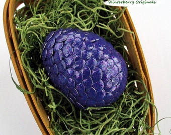 Dragon Egg - Purple with Multi-Colored Sparkles - Easter, Mythical Decor