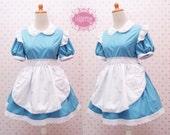 Alice in Wonderland Maid Dress For Kids, Girls, and Women - Simple Alice in Wonderland Costume - Maid Costume - Kawaii Clothing