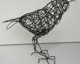 Original Handmade Wire Bird Sculpture - LONDON