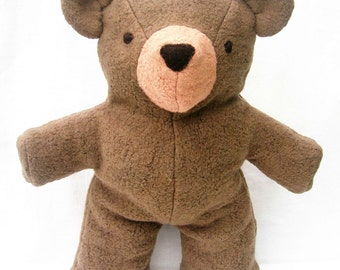 Teddy Bear, Organic Stuffed Animal, Hand-dyed GOTS Certified Organic Cotton & Alpaca Stuffing