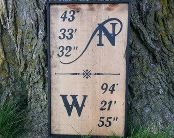"""9 1/2"""" X 16 1/2"""" framed sign - East Chain,  MN"""