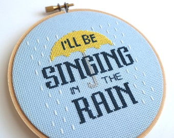 Singing in the Rain cross stitch | Simple Plan | Song lyrics