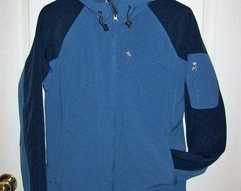 Vintage 90s Women's Blue Windbreaker Hooded Jacket by Free Country Medium Only 10 USD