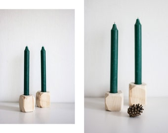 WOOD DIAMOND / CANDLEHOLDER