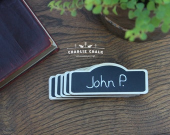 50 Chalkboard Name Tags Chalkboard Name Badges, Reusable Magnetic Name Tags,  Perfect for Coffee Shops, Restaurants, and Corporate Meetings