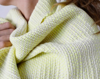 Scarf Merino Wool scarf Women Handwoven Yellow Cozy Wrap, Women's pashmina gifts