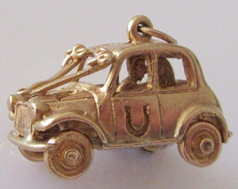9ct Gold Just Married Wedding Car Charm