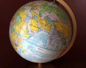Vintage Globemaster 12'' World Globe
