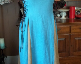 Custom Linen Apron Dress