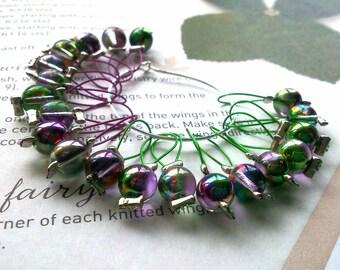 20 Knitting stitch markers mulberry