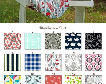 MADE TO ORDER Fleece Lined Miscellaneous Prints Reversible Saddle Cover Many Prints
