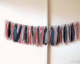 Nautical Fabric Garland Rag Tie Streamer Bunting